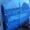 кроватка манеж, сине-голубого цвета на колесиках                                  #1250889