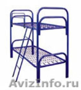 кровати металлические одноярусные для рабочих, студентов, больниц, двухъярусные - Изображение #4, Объявление #689281