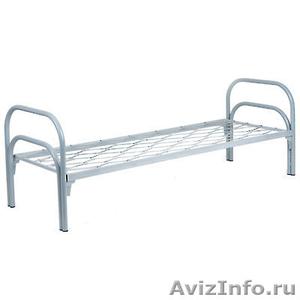 кровати металлические одноярусные для рабочих, студентов, больниц, двухъярусные - Изображение #3, Объявление #689281