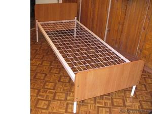 кровати металлические одноярусные для рабочих, студентов, больниц, двухъярусные - Изображение #5, Объявление #689281