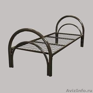 Кровати металлические одноярусные, кровати металлические с ДСП спинками, дёшево - Изображение #1, Объявление #1479372