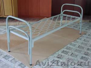 Кровати металлические одноярусные, кровати металлические с ДСП спинками, дёшево - Изображение #3, Объявление #1479372